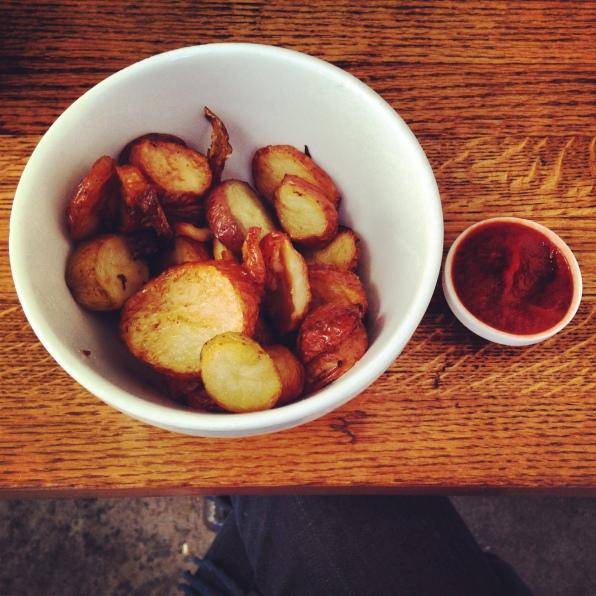 Roasted Potatoes and Sir Kensington Ketchup