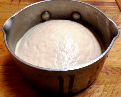 Proofed Yeast, Sugar and Water