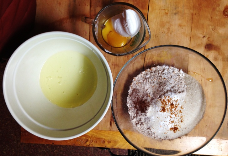 Yolk & Fat; Egg White; Flour & Mace & Baking Powder & Sugar