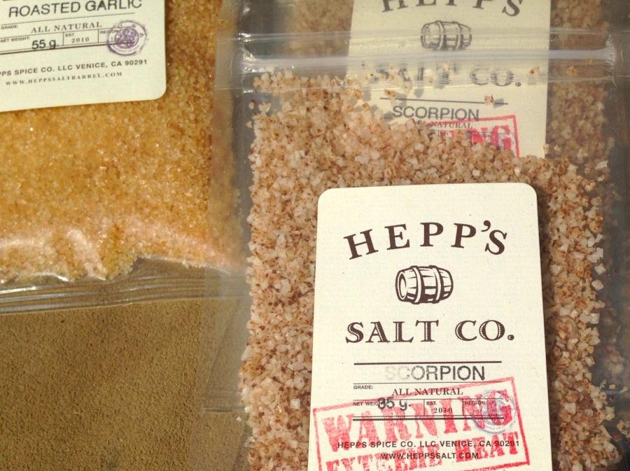 Amazing Salts:  Scorpion Pepper (hottest pepper on earth).  I ate one grain and whoa!