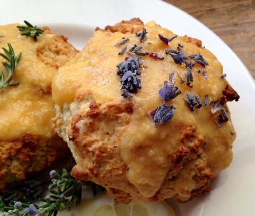 Buttermilk Lemon Rind Scones with Lavender & Rosemary