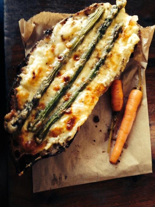 Tartine at Tartine: fromage blanc and asparagus