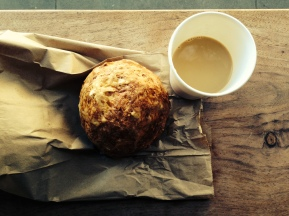 Gougere and coffee