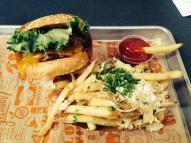 Super Duper Burger with Garlic Fries
