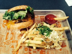 Super Duper Burger with Garlic Fries