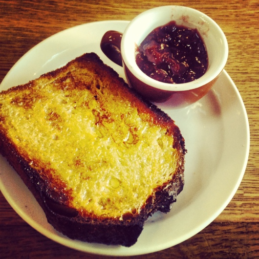 Mom's special: Country with just butter & jam