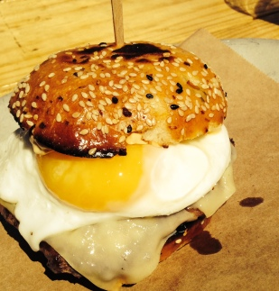 "The ""Best Damn Cheeseburger"" with egg"