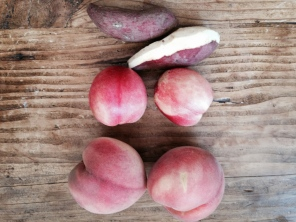 White Sweet Potato (Japanese), White Nectarine, White Peach