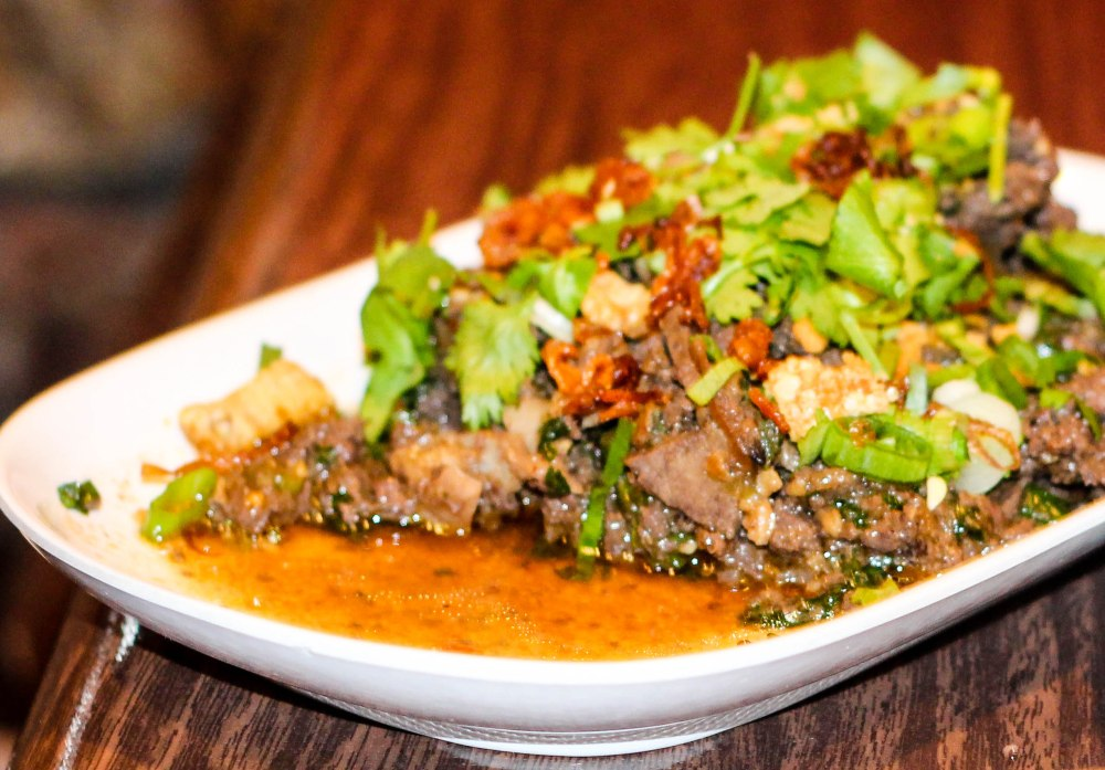 At Pok Pok:  Lap Meuang -- Minced Pork loin, intestine, liver, skin, blood -- More Next Week
