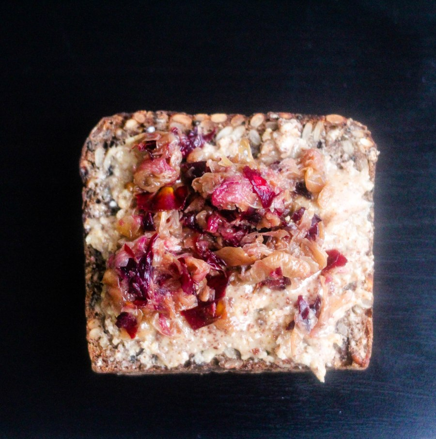 On toast with raw almond butter