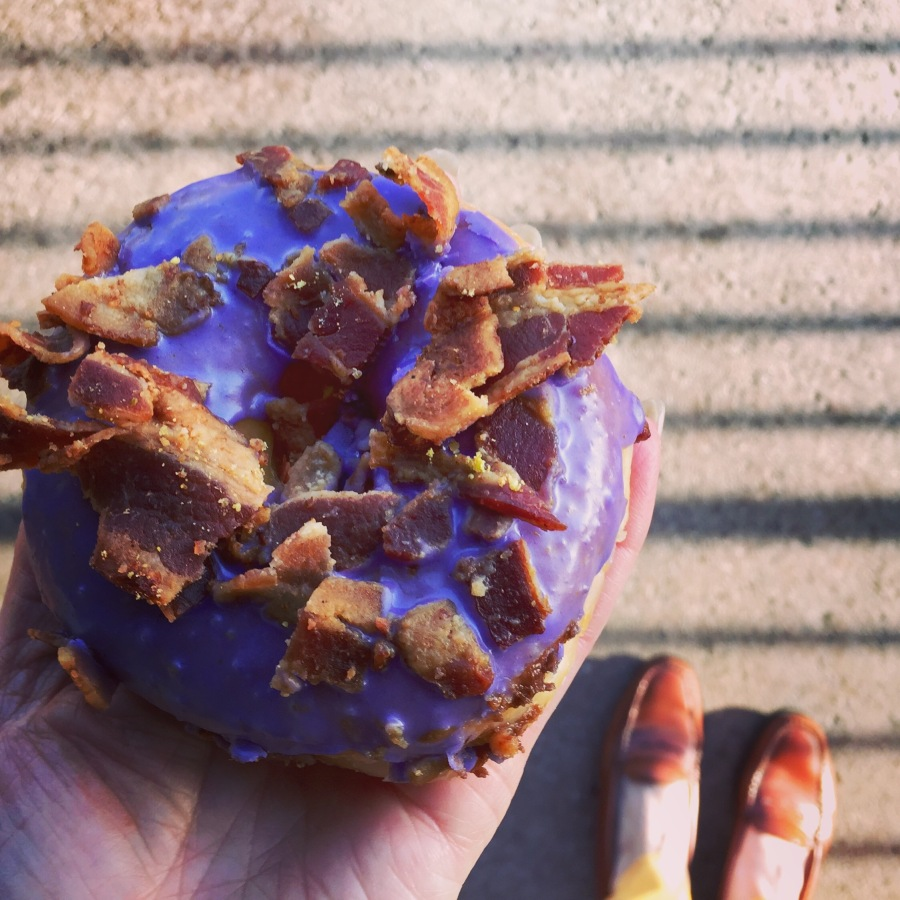 Ube Bacon Donut